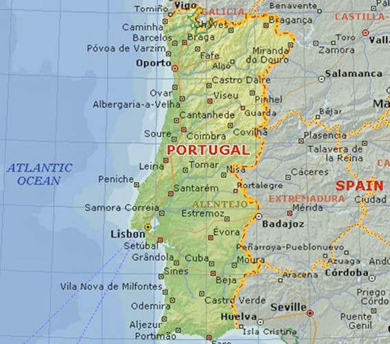 portugal-on-map