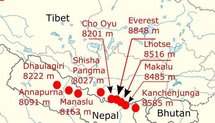 height-of-himalayan-giants