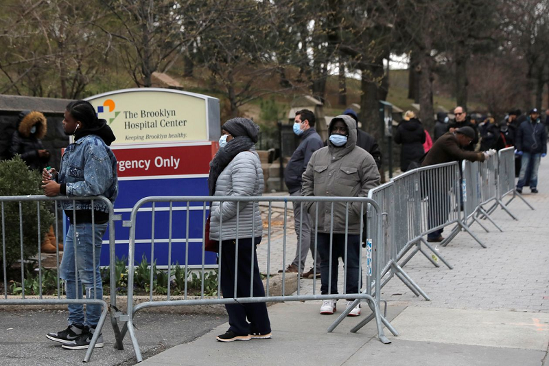 Line at an emergency room in Brooklyn, NY, March 19