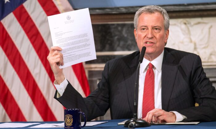 Communist New York Mayor De Blasio issues another fascist edict