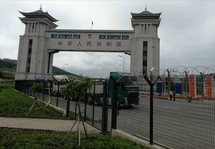 China border gate with Russia at Suifenhe