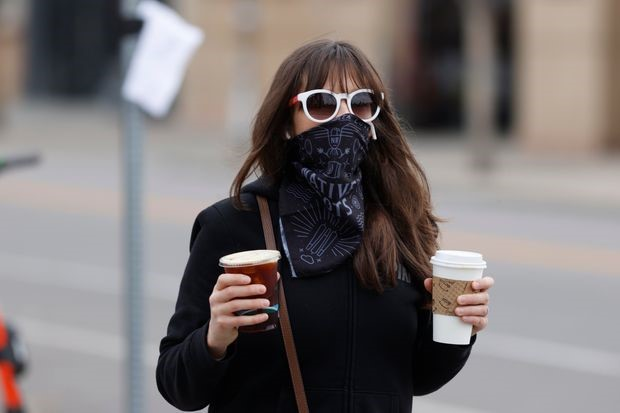 Hard to drink coffee and keep your mask on