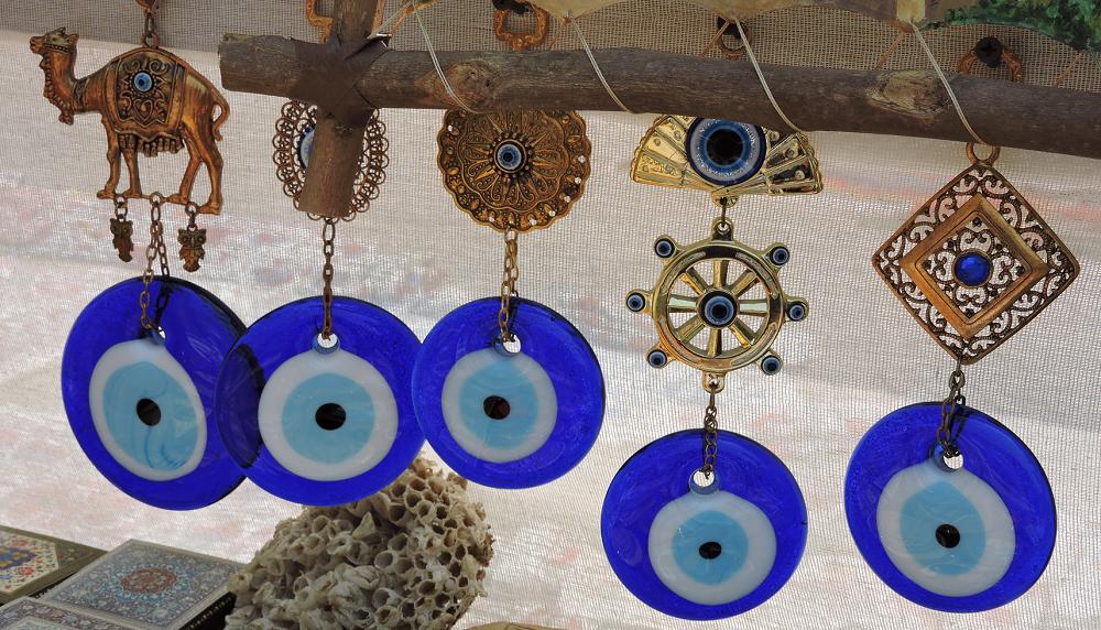Evil Eye pendants, Khiva, Uzbekistan, Central Asia ©Jack Wheeler