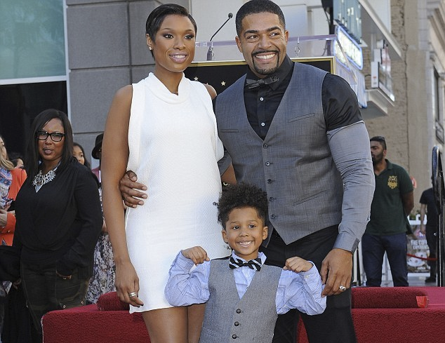 Jennifer Hudson with husband and son
