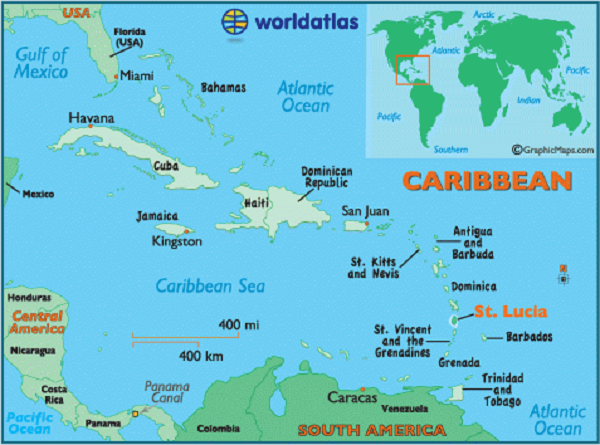 st-lucia-on-map