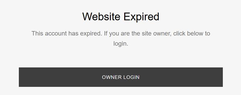 website-expired