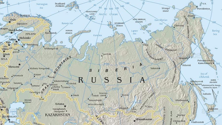 siberia-on-map